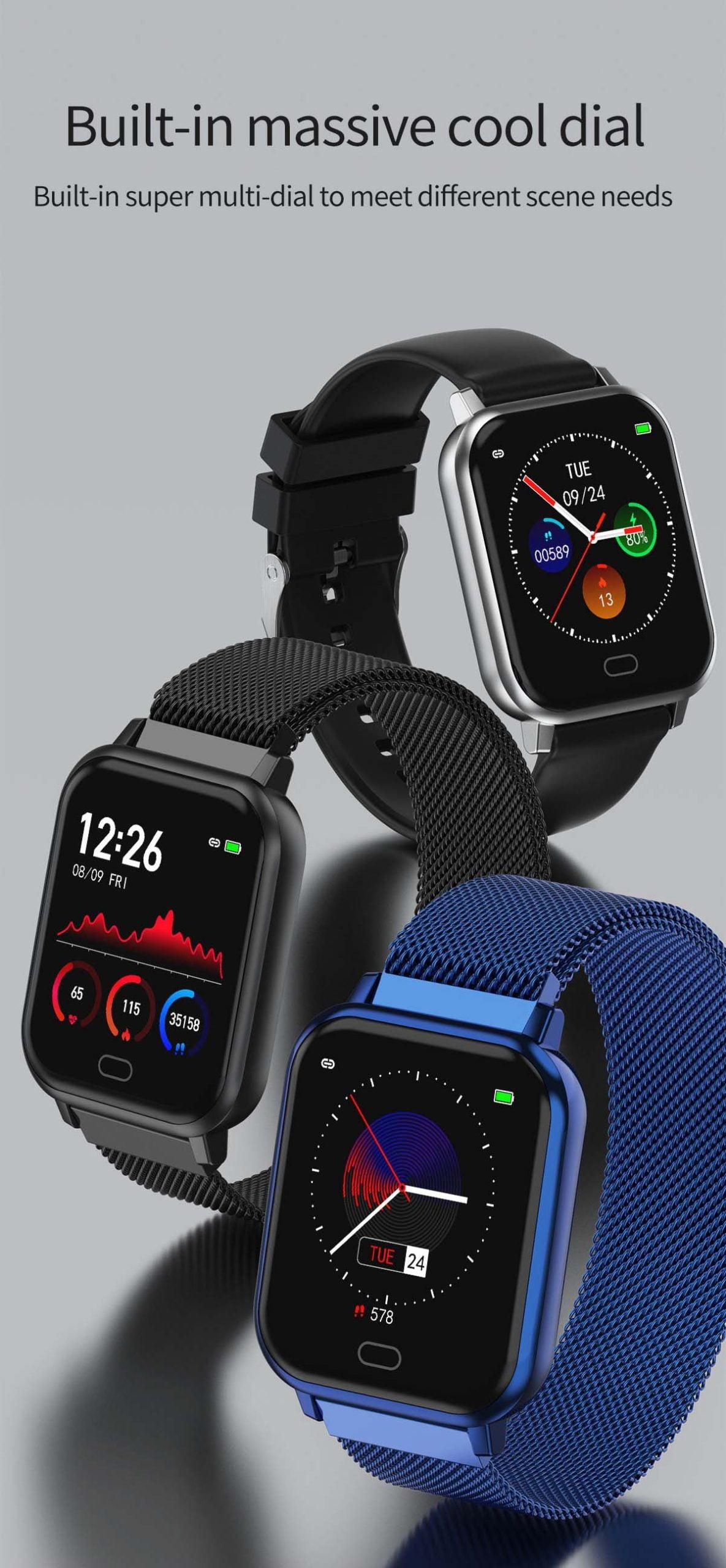 Watch 6 heart rate blood pressure oxygen monitor wristband (17)