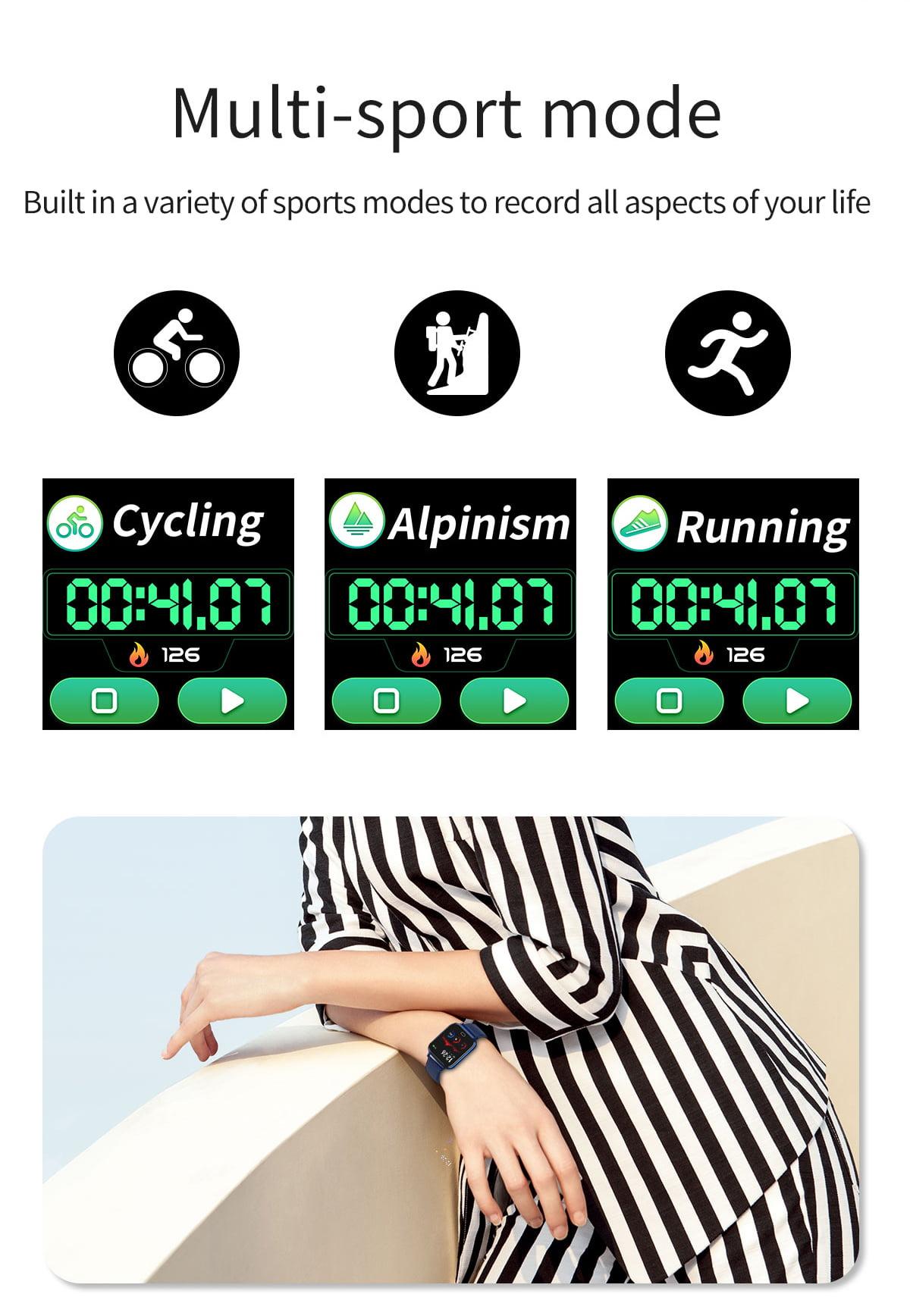 Watch 6 heart rate blood pressure oxygen monitor wristband (5)