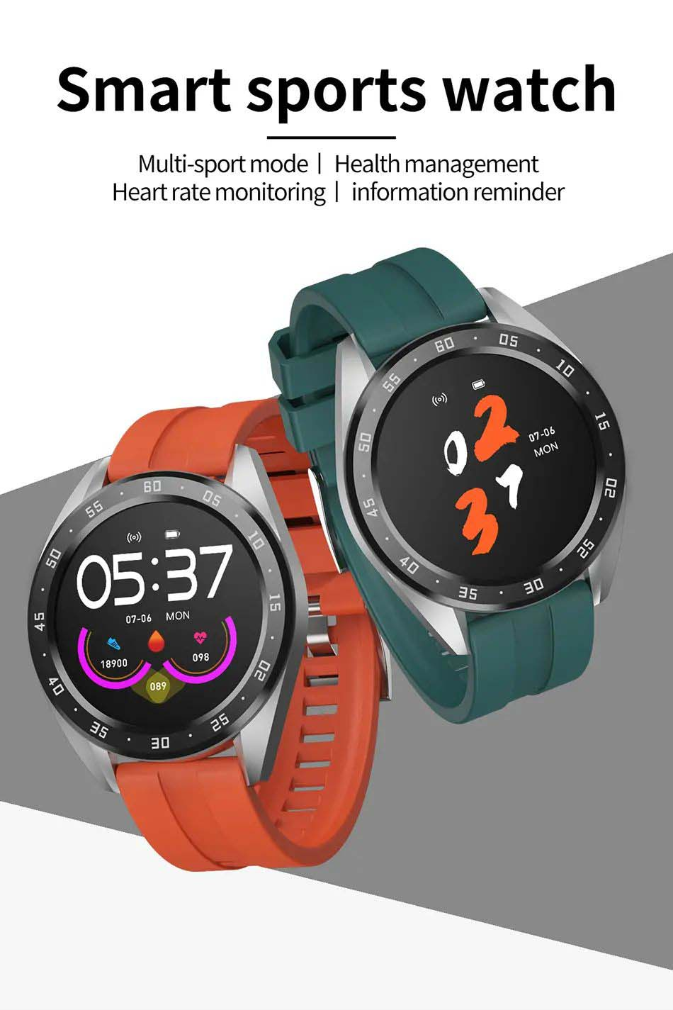 Bakeey smartwatch X10 heart rate blood oxygen monitor weather push call rminder smart watch wholesale (12)