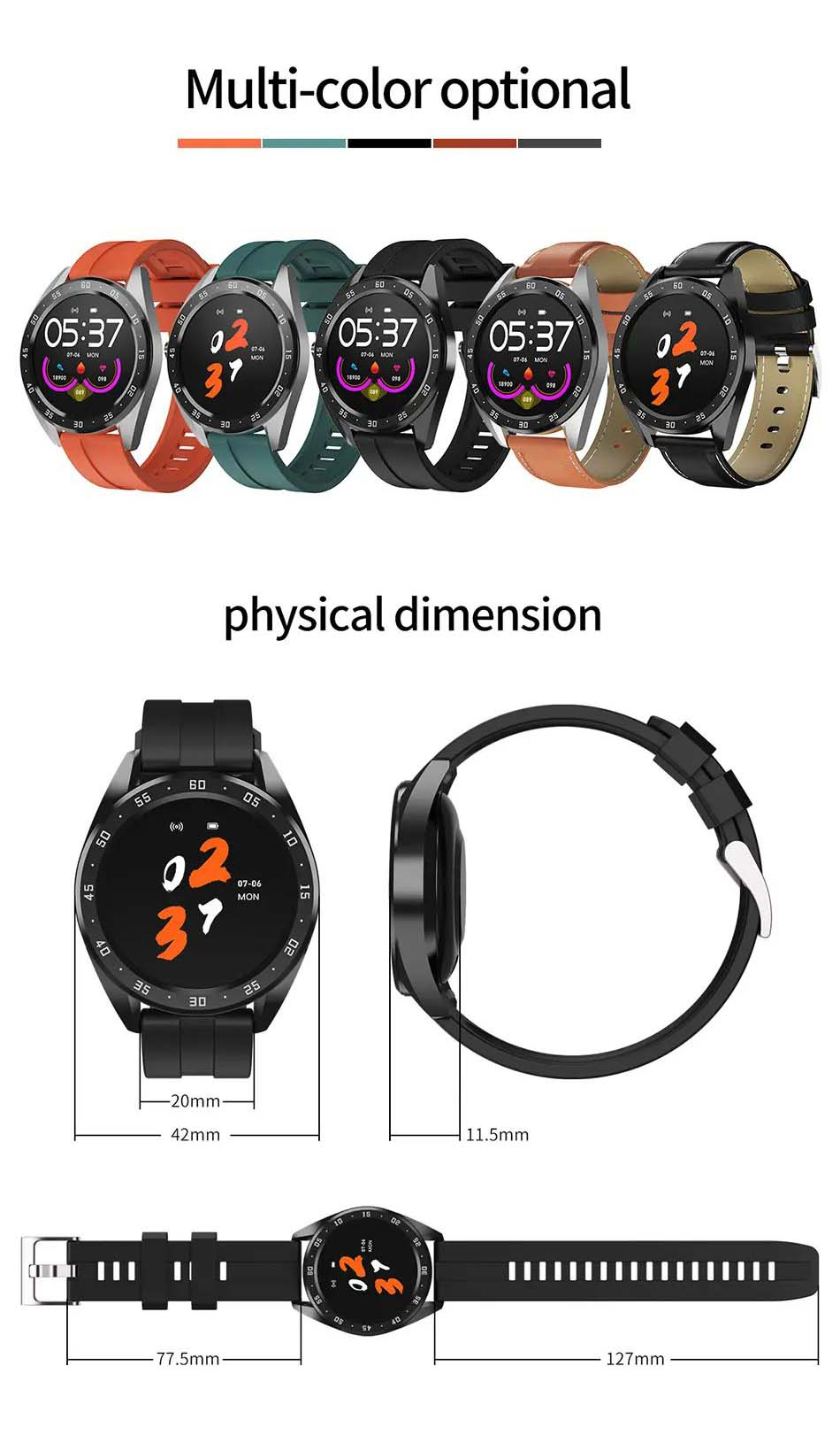 X10 heart rate blood oxygen monitor weather push call rminder smart watch wholesale (18)