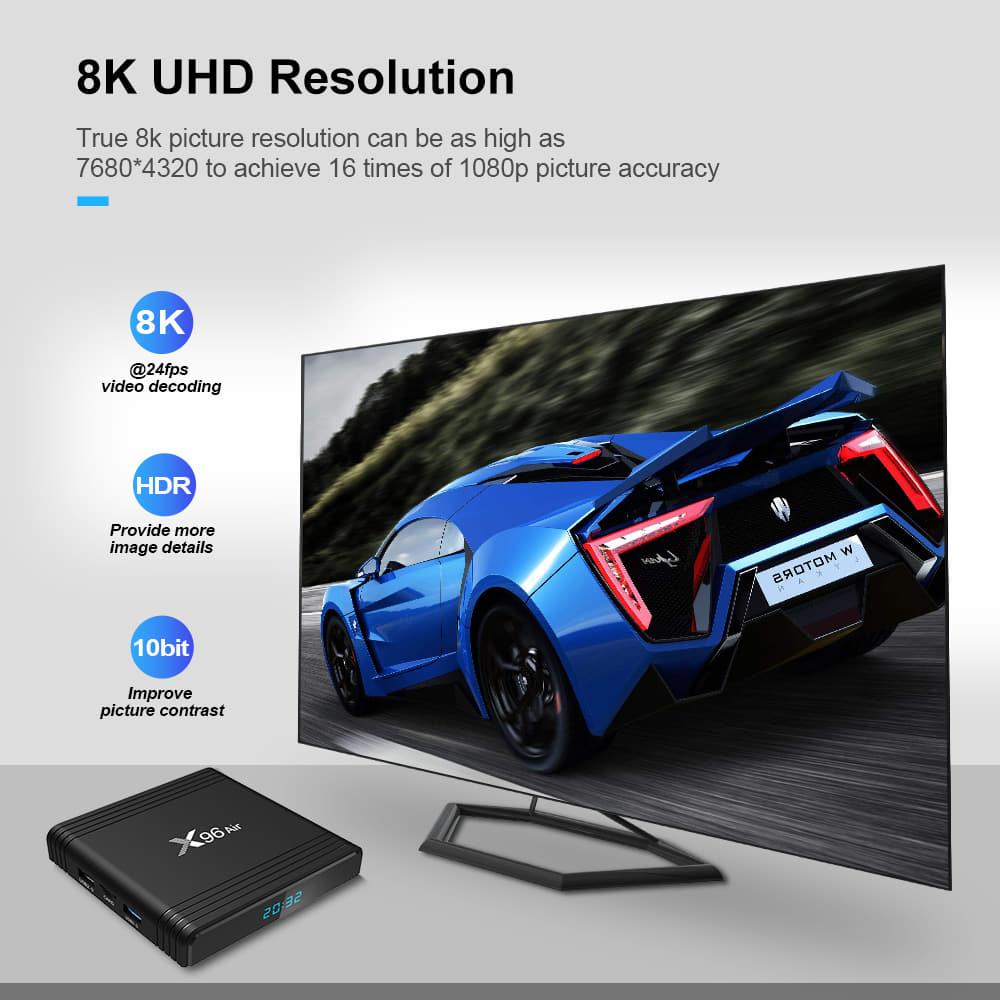 X96 Air Amlogic S905x3 8K Video 4GB RAM 32GB ROM Android 9.0 (9)