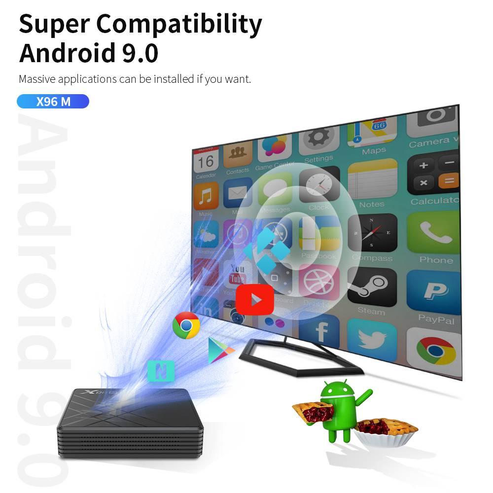 X96M Allwinner H603 4GB RAM 64GB ROM Android 9.0 USB Type-c Smart TV BOX (20)