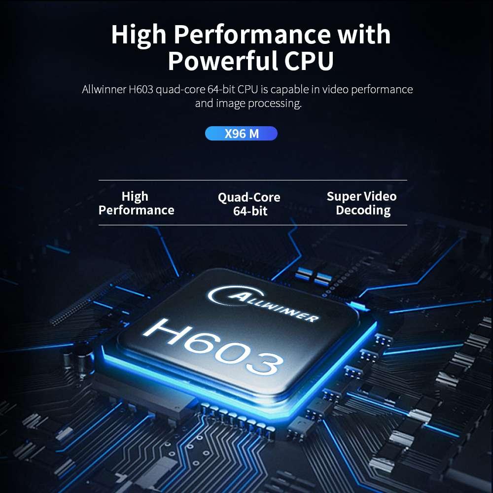X96M Allwinner H603 4GB RAM 64GB ROM Android 9.0 USB Type-c Smart TV BOX (21)