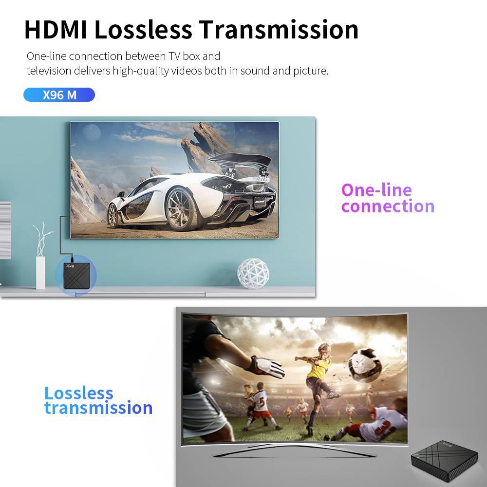 X96M Allwinner H603 4GB RAM 64GB ROM Android 9.0 USB Type-c Smart TV BOX (23)