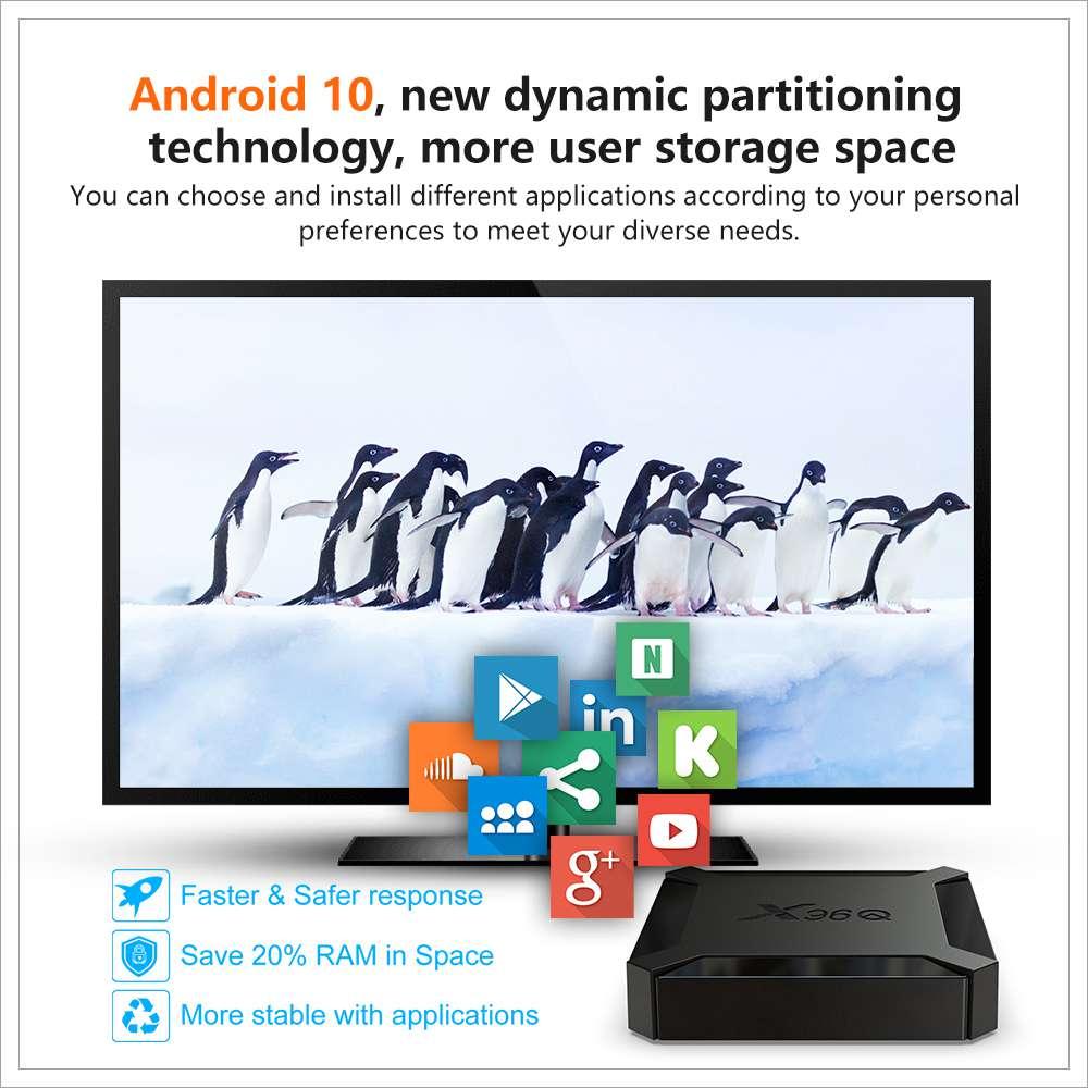 X96Q Allwinner H313 2GB RAM 16GB ROM Android 10 4K Smart TV BOX (9)