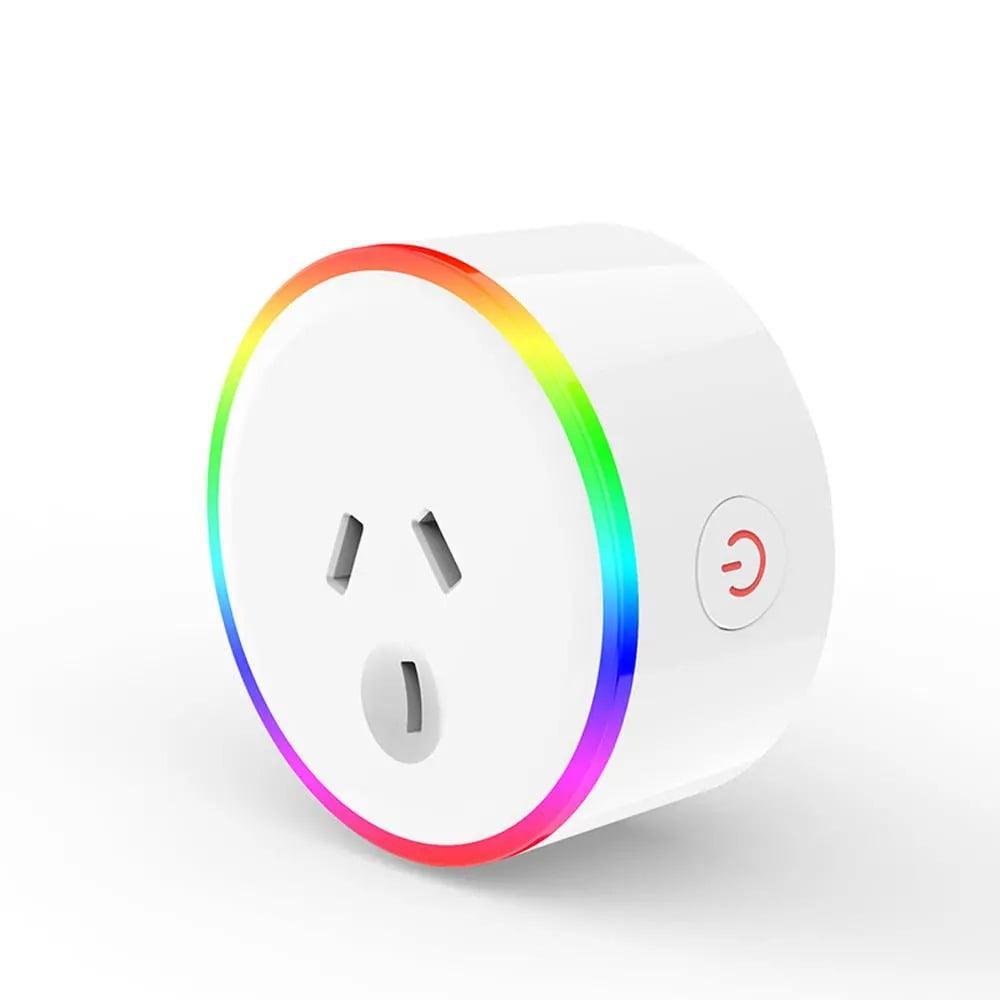 XS-A18 AC100-240V 10A AU Plug Smart RGB LED Light Smart Wifi Socket Voice Control (1)