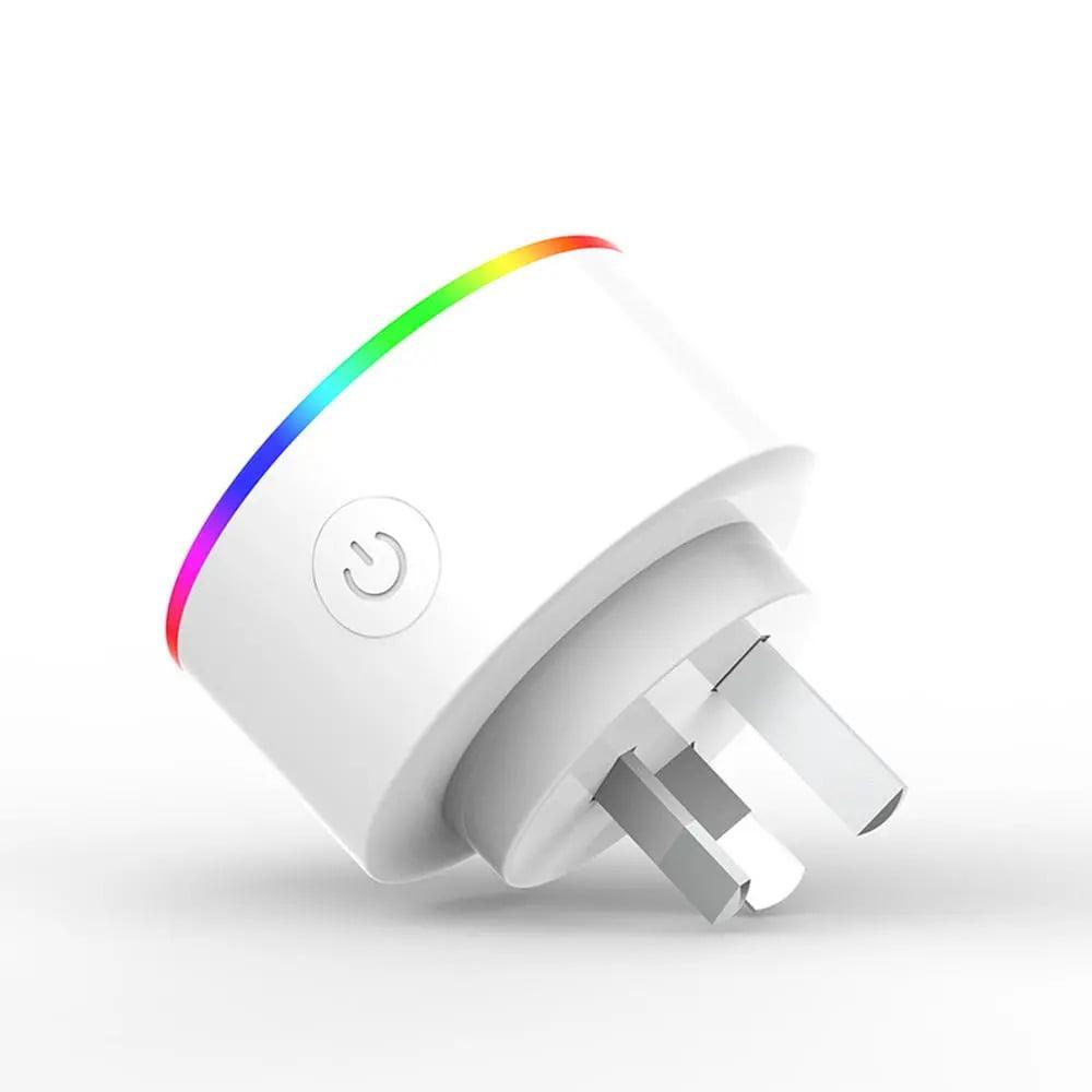XS-A18 AC100-240V 10A AU Plug Smart RGB LED Light Smart Wifi Socket Voice Control (10)