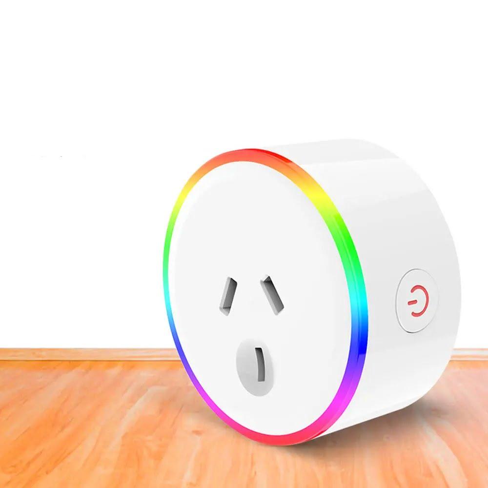 XS-A18 AC100-240V 10A AU Plug Smart RGB LED Light Smart Wifi Socket Voice Control (2)