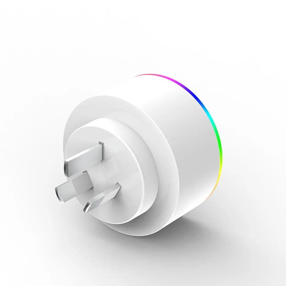 XS-A18 AC100-240V 10A AU Plug Smart RGB LED Light Smart Wifi Socket Voice Control (6)