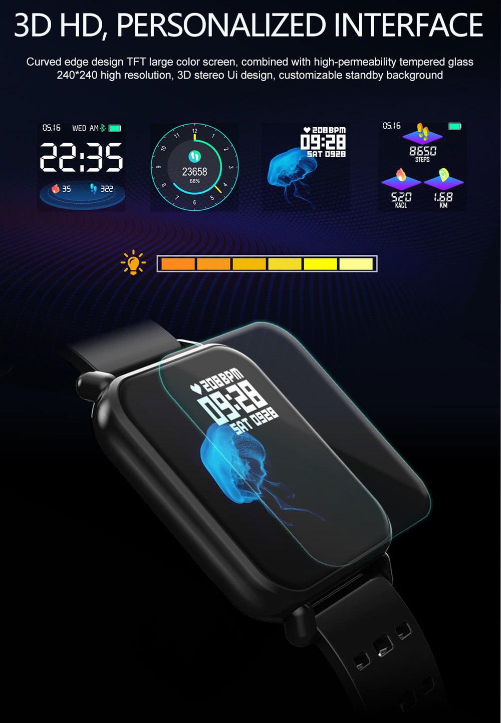 Y6 pro Smart watch fun dynamic icon hr blood pressure (16)