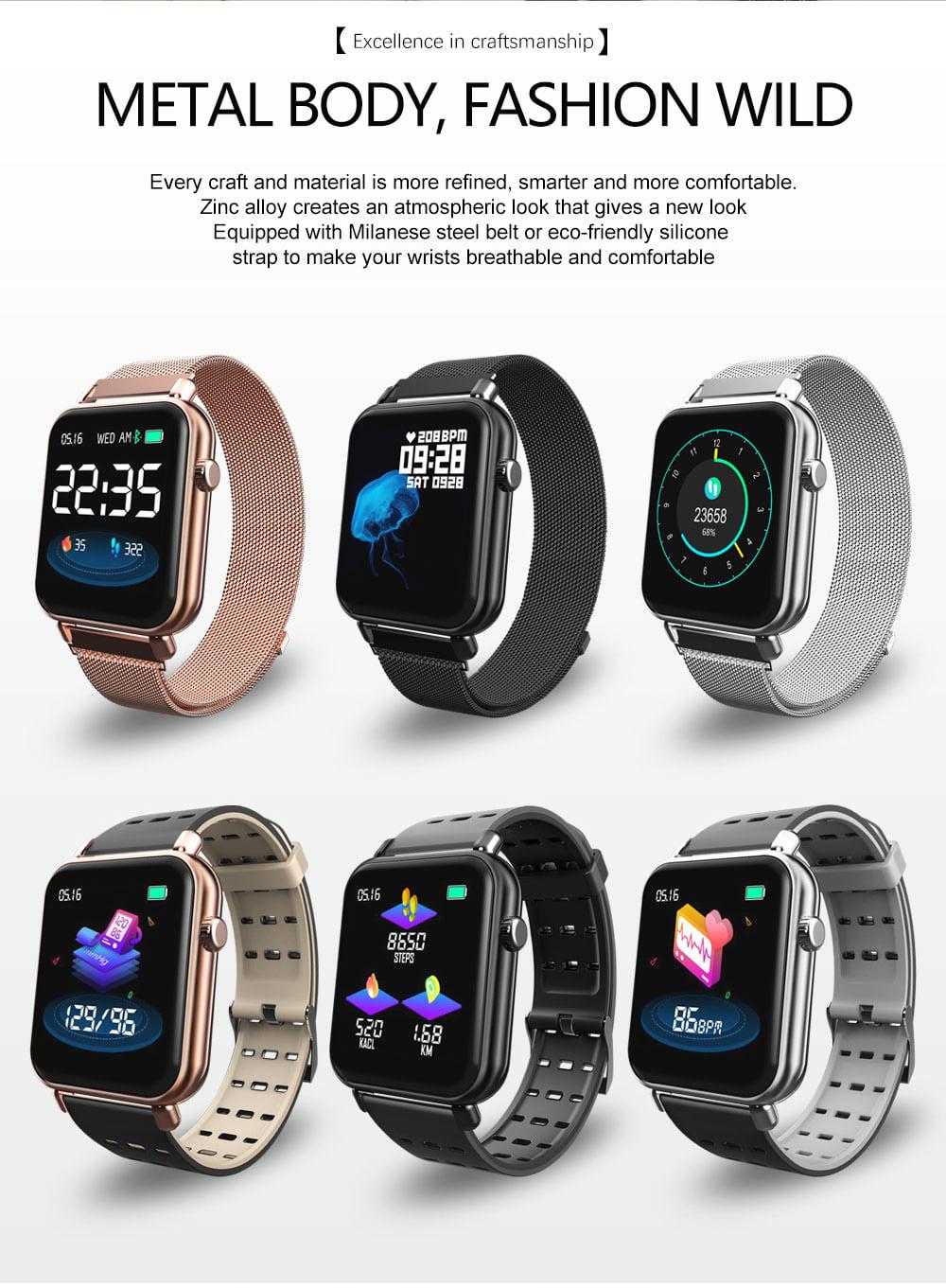 Y6 pro Smart watch fun dynamic icon hr blood pressure (21)