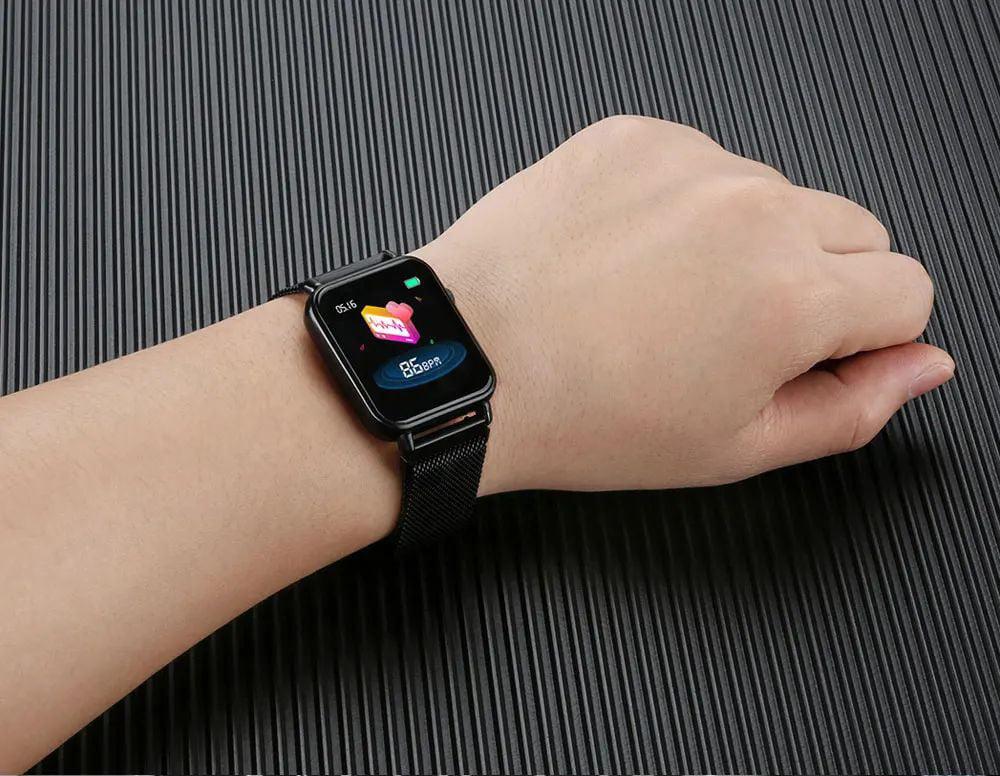 Y6 pro Smart watch fun dynamic icon hr blood pressure (8)