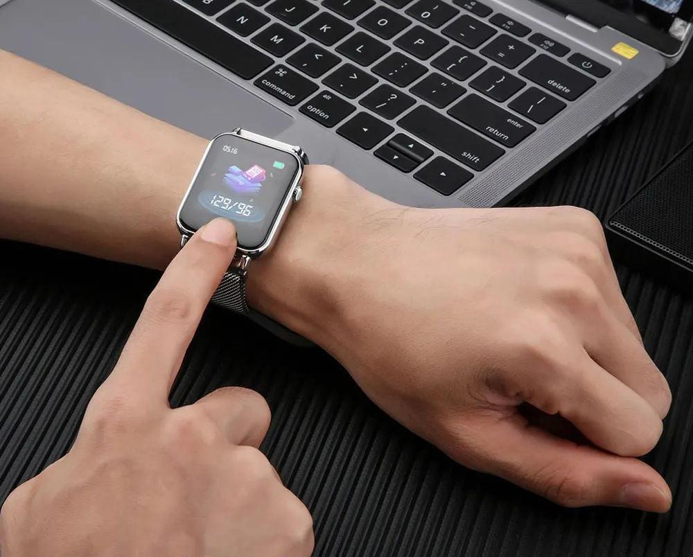 Y6 pro Smart watch fun dynamic icon hr blood pressure (9)