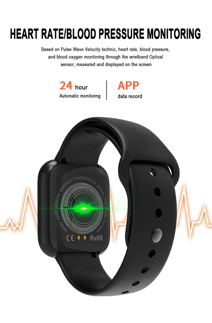 i5 real time heart rate o2 monitor smart watch (2)