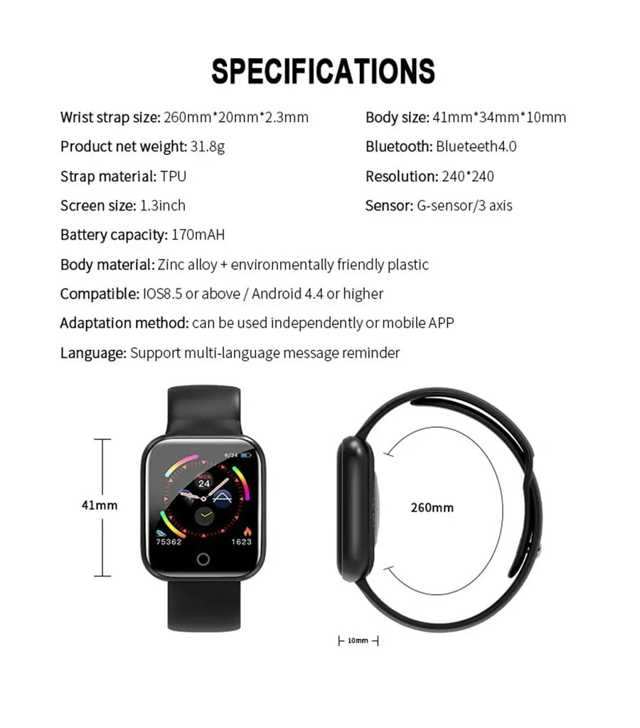 i5 real time heart rate o2 monitor smart watch (4)