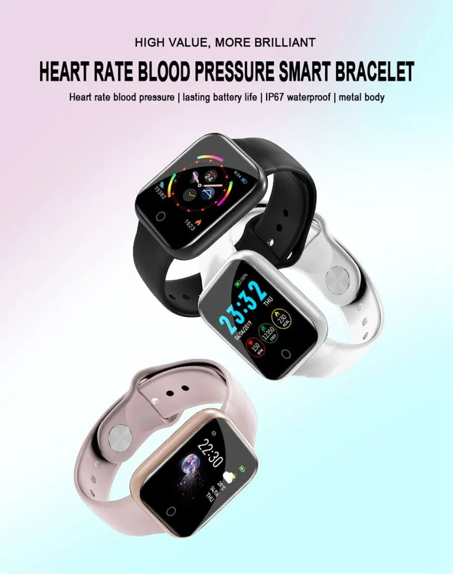 i5 real time heart rate o2 monitor smart watch (8)