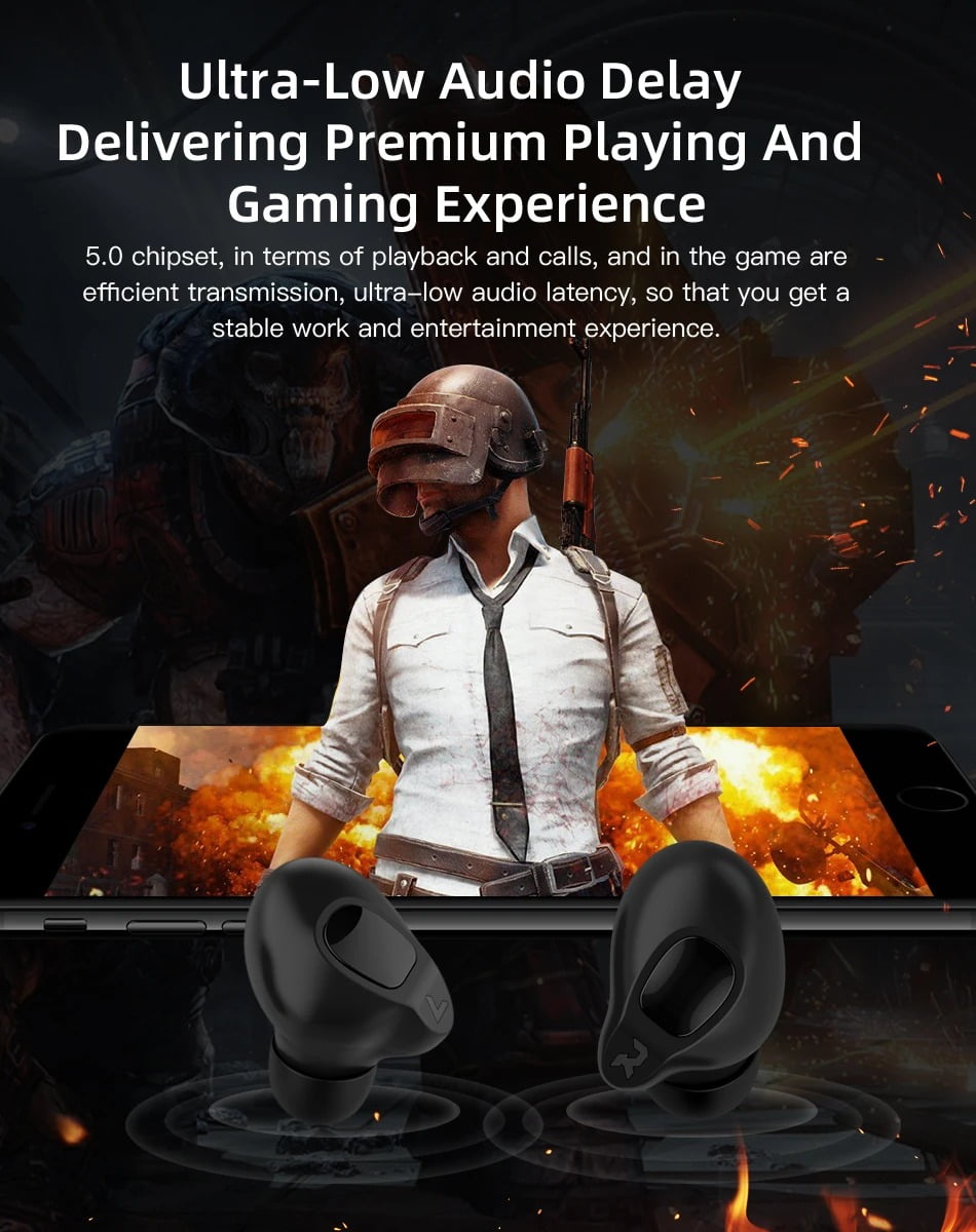 V1 TWS bluetooth Earphone Gaming Headphone LED Digital (11)
