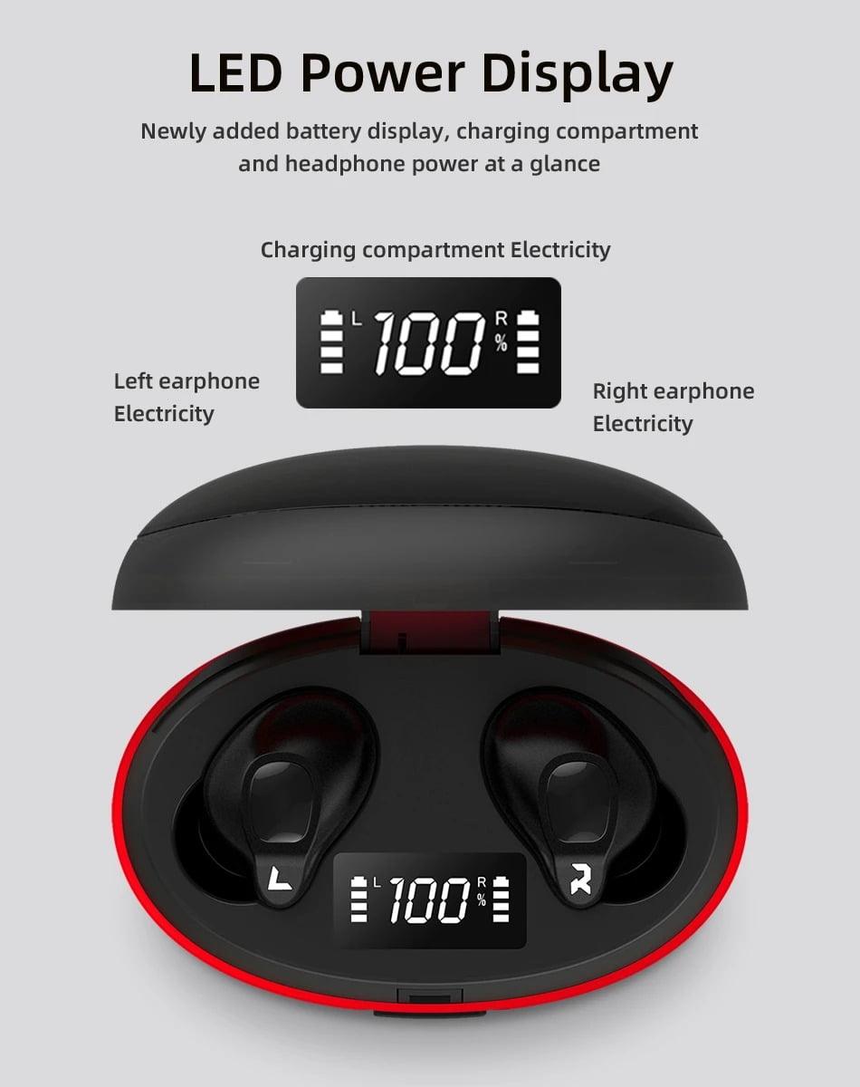V1 TWS bluetooth Earphone Gaming Headphone LED Digital (12)