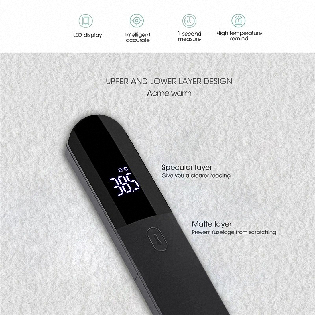 Firefly Non-contact Infrared Forehead Body Thermometer Adults Children Body Temperature Fever Measure Tool Digital LED Medical Thermometer (9)