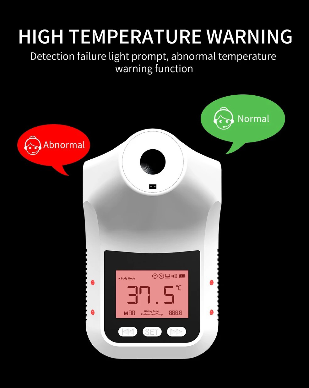 Yatay K3 Pro Infrared Thermometer Non-Contact Wall-Mounted Fixed Digital Electronic Thermometer Forehead Wall-Mounted Type 13