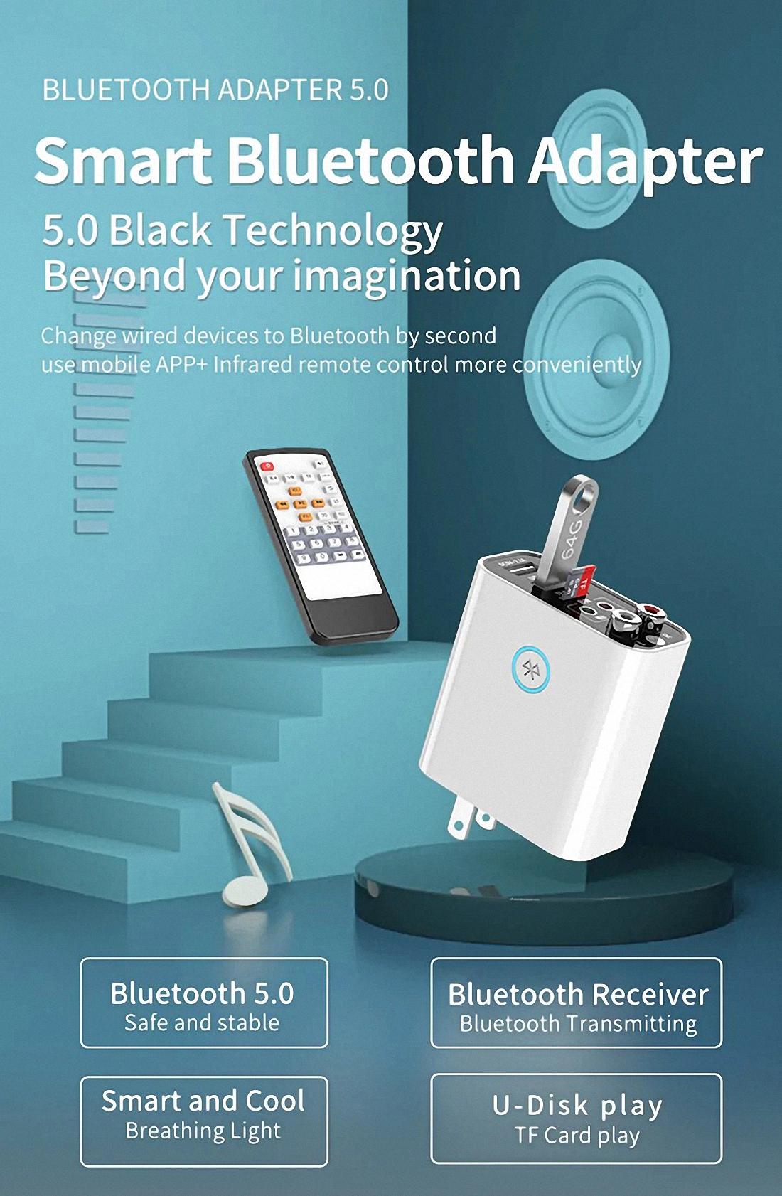 Smart bluetooth Adapter K16 Wireless Audio Receiver Transmitter Firefly (11)