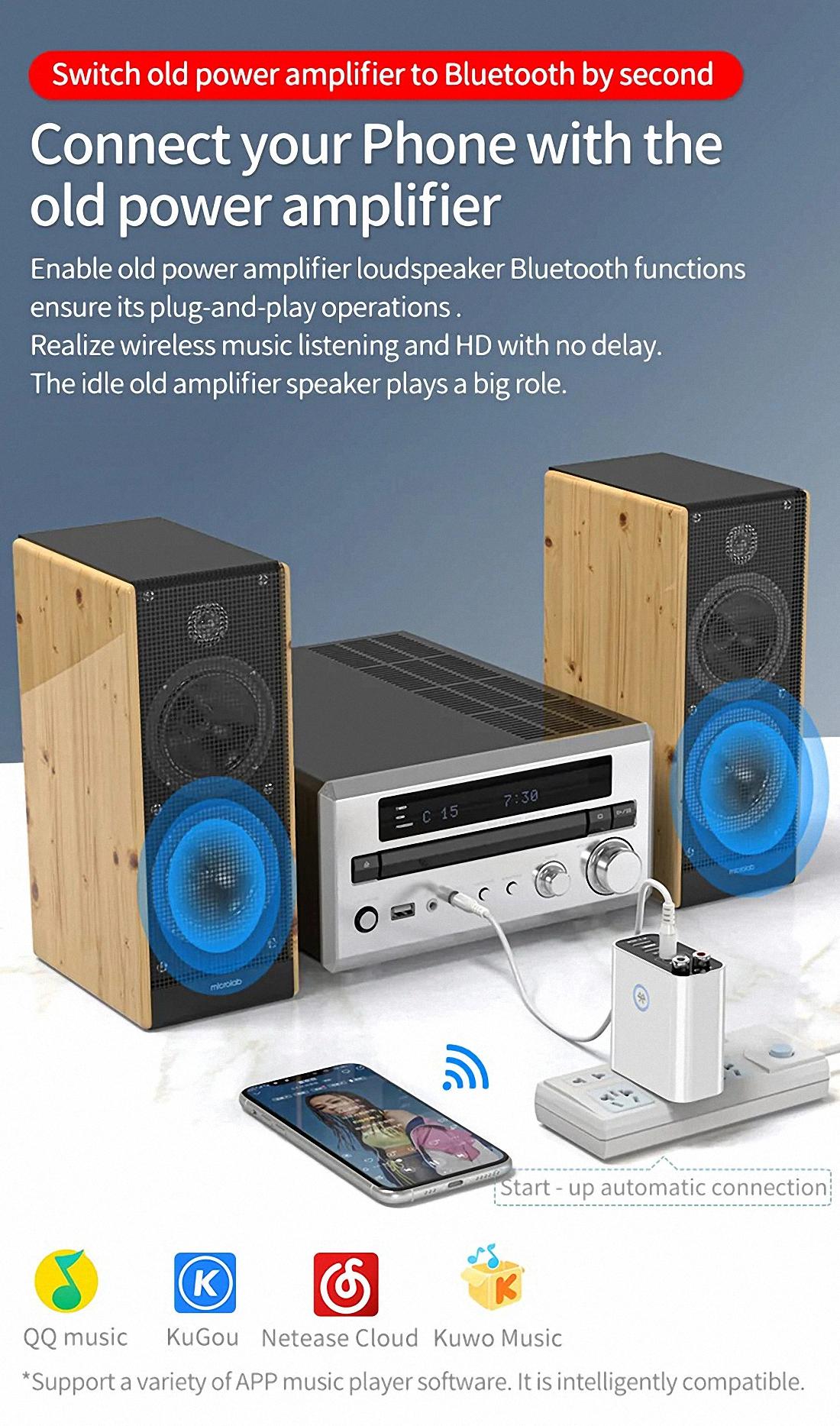 Smart bluetooth Adapter K16 Wireless Audio Receiver Transmitter Firefly (13)