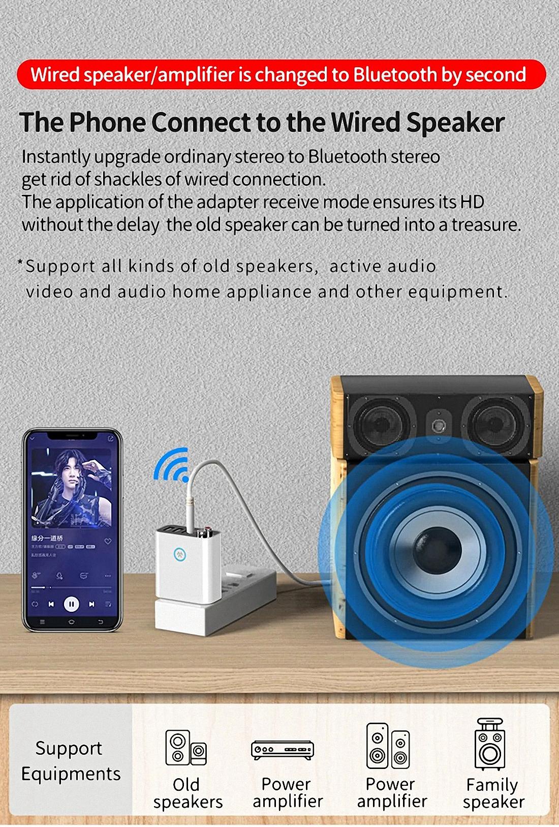 Smart bluetooth Adapter K16 Wireless Audio Receiver Transmitter Firefly (14)