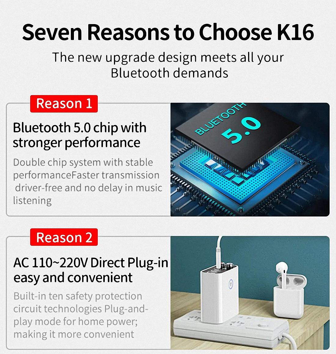 Smart bluetooth Adapter K16 Wireless Audio Receiver Transmitter Firefly (2)