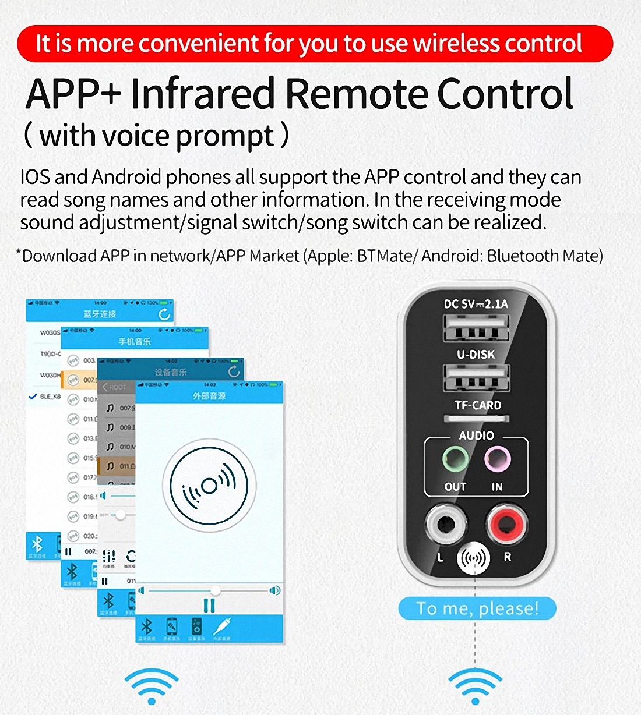 Smart bluetooth Adapter K16 Wireless Audio Receiver Transmitter Firefly (6)
