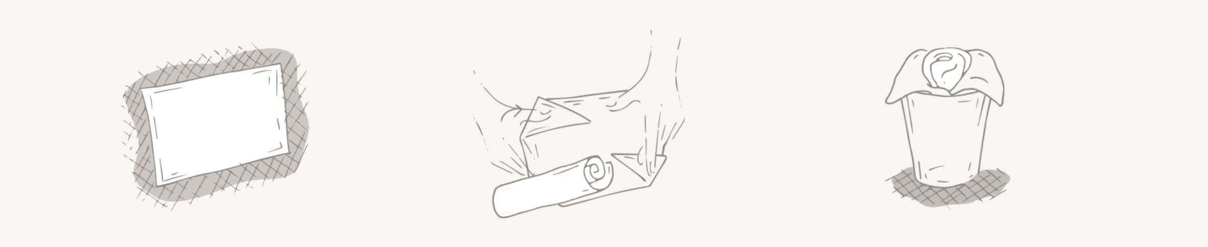 gül şeklinde peçete nasıl hazırlanır