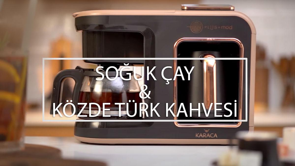 Soğuk çay ve közde türk kahvesi