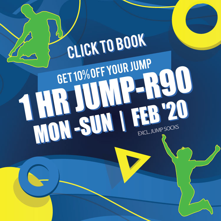 February Special - R90 per hour | Trampoline Park