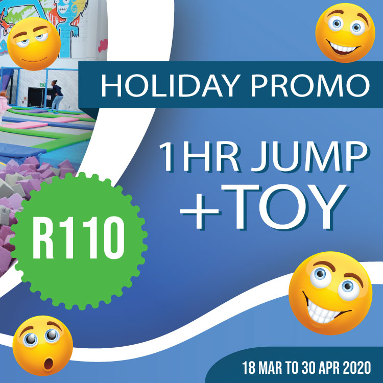 1 hr Jump + FREE Toy - R110 | Holiday Special
