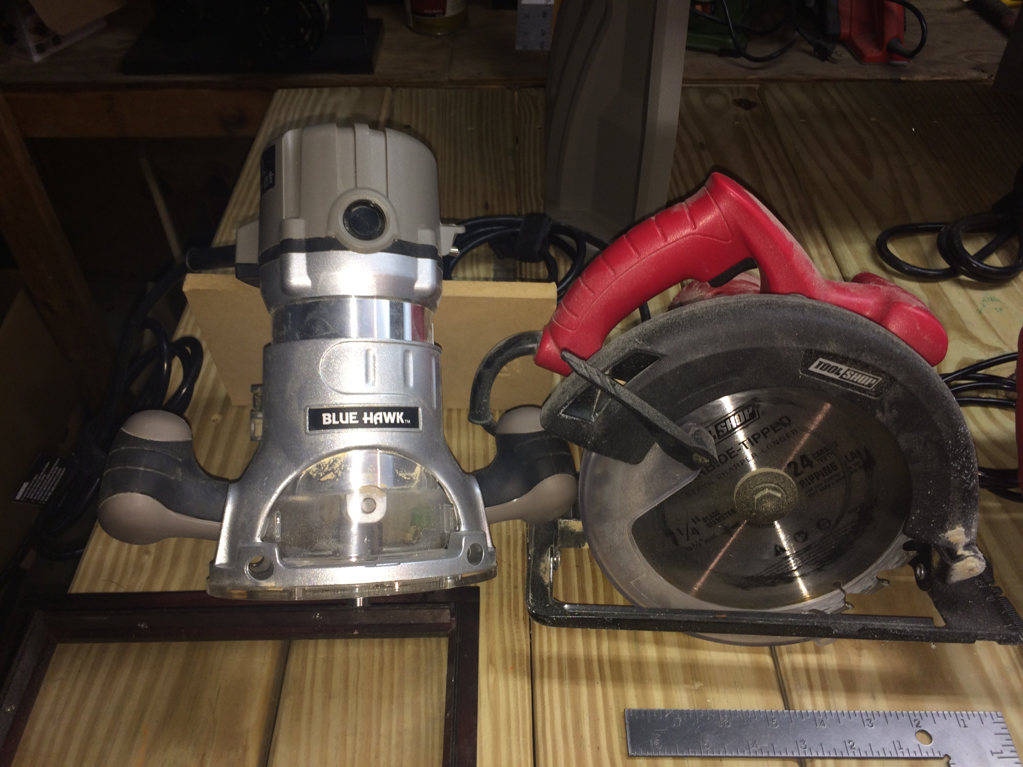 Router and Circular Saw