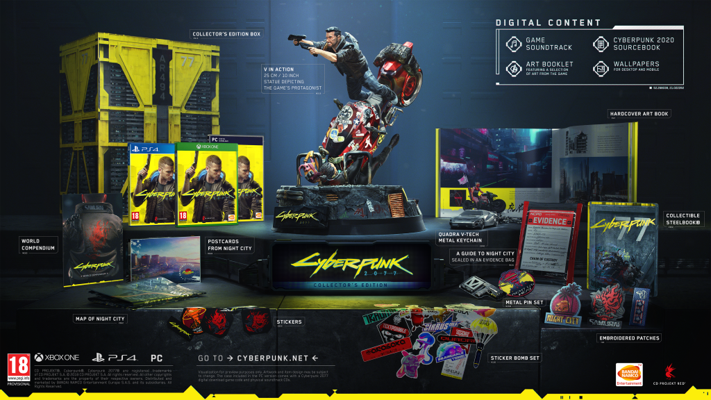 cyberpunk 2077 collector's contents