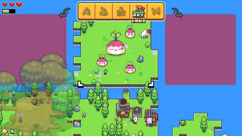 Buy more land in Forager