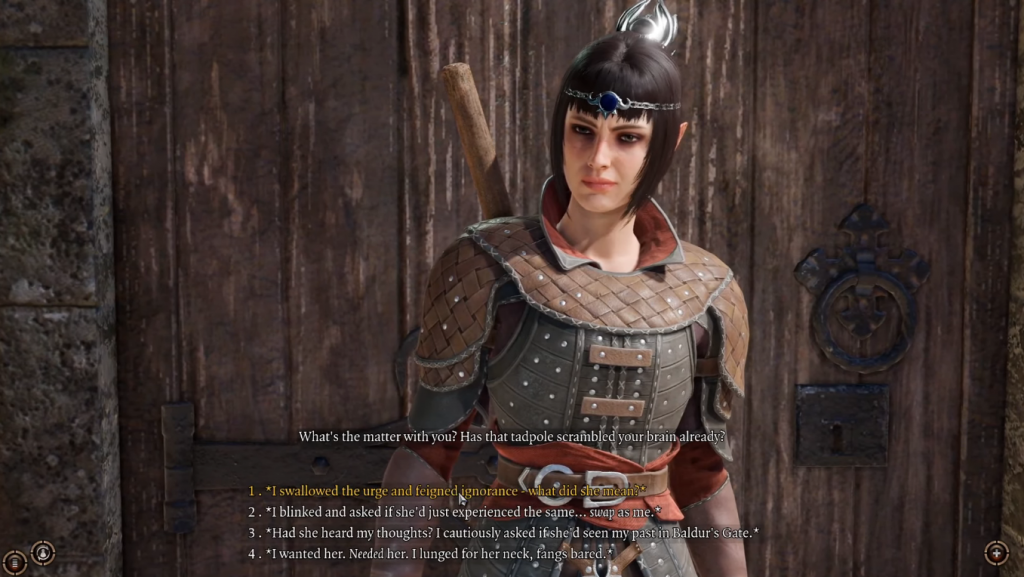 Cutscene with dialogue