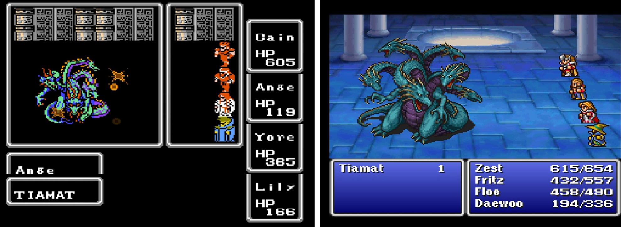 ff1 graphics comparison tiamat