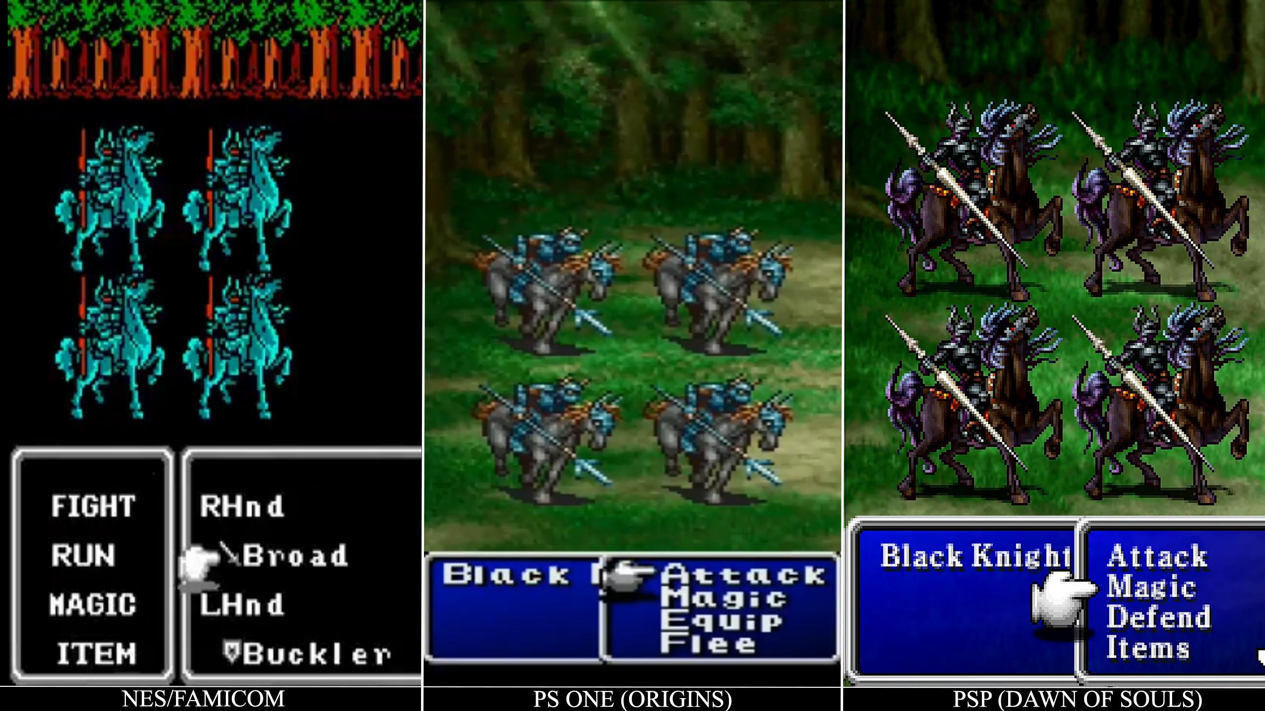final fantasy ii graphics comparison