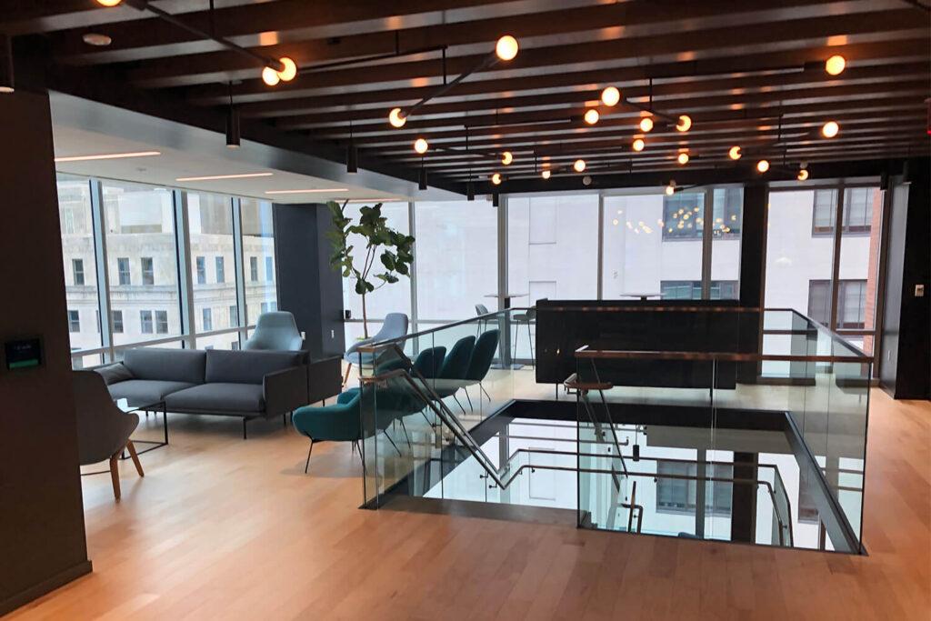 1000 F Street Interior 2nd Story Lobby