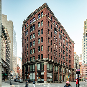 110 Chauncy Street Building Exterior with people walking on the street