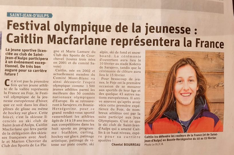 Caitlin McFarlane Article Messager FOJE 2019