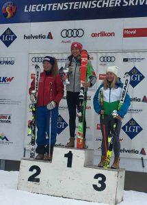 Photo - Caitlin McFarlane - Slalom, Podium OPA Cup Malbun Liechtenstein