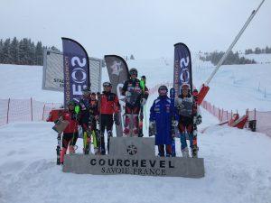 Photo - Caitlin McFarlane - Podium FIS Slalom Courcgevel