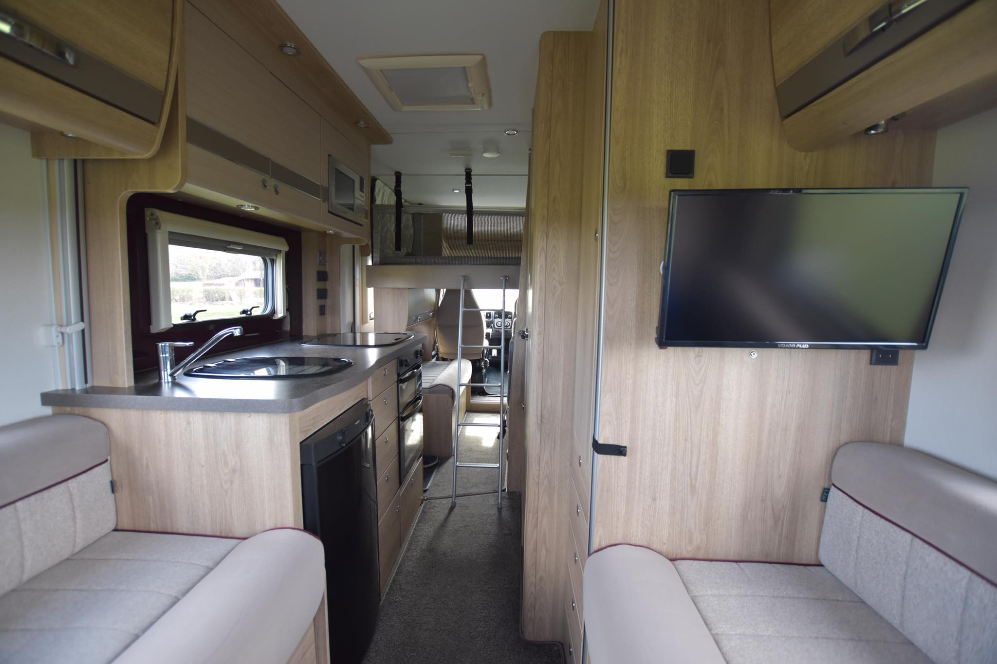 view from inside the motorhome