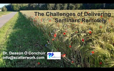 The Challenges of Delivering Remote Seminars