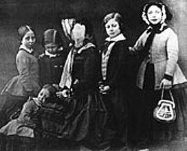 Queen Victoria with her five children