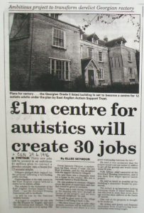 £1m centre for autistics will create 30 jobs