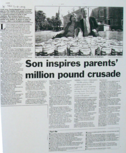 Son inspires parents' million pound crusade