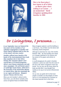 Dr Livingston article page 1